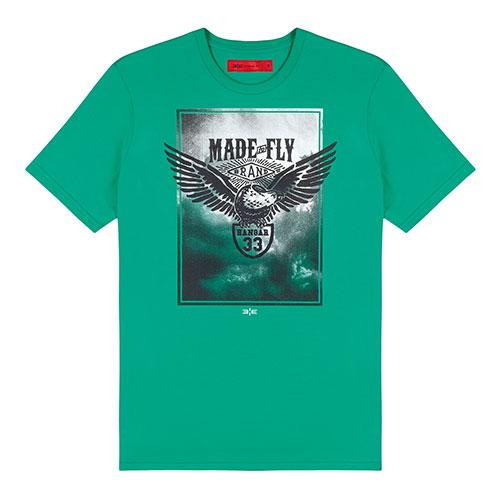 T-Shirt Estampada Verde