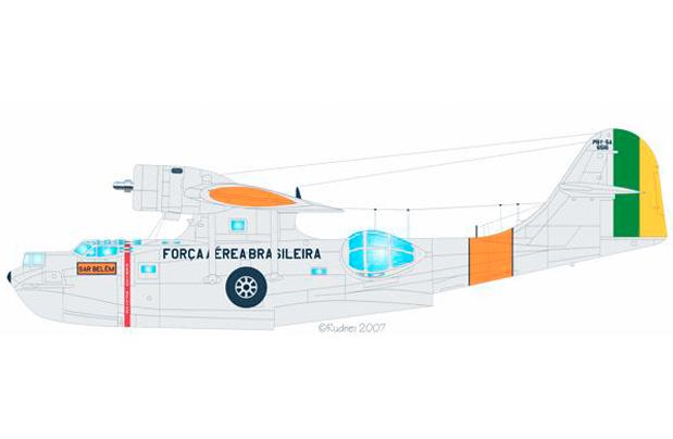 Avião FAB Catalina - hidroavião