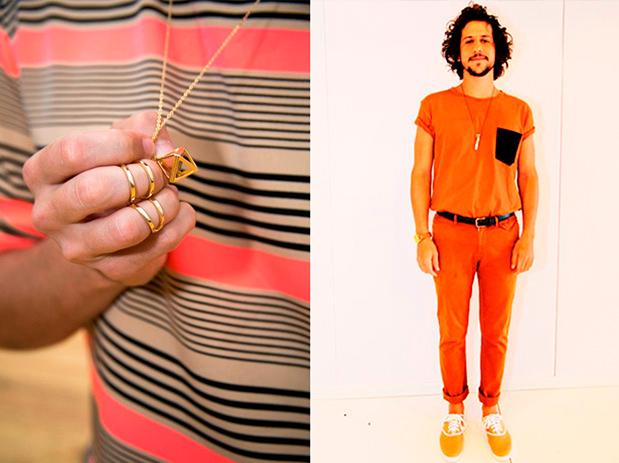 Looks laranjas do Caio Braz para o reveillon