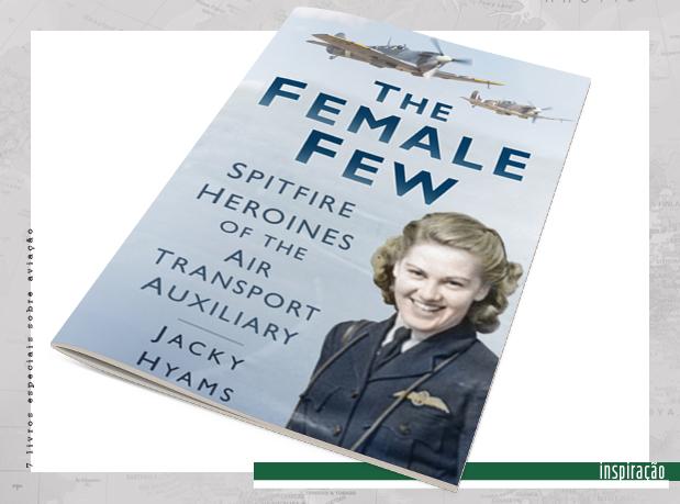 Capa de livro com foto de mulher piloto de avião