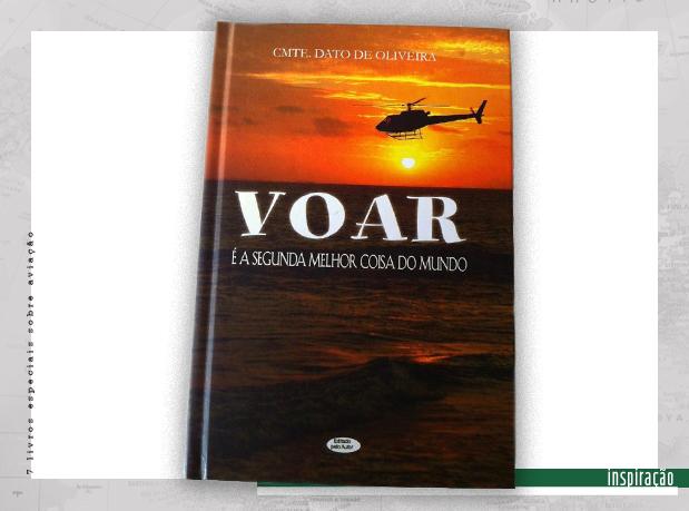 Capa de livro com imagem do mar e um helicóptero sobrevoando no entardecer